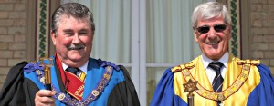 L.  Robin Habbitts, Provincial Grand Supreme Ruler. R.  John Warne, Deputy Provincial Grand Supreme Ruler.