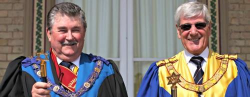 R. -  Robin Habbitts, Provincial Grand Supreme Ruler. L. - John Warne, Deputy Provincial Grand Supreme Ruler.