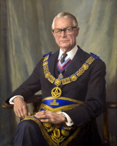 M Wy Bro. Col. Seymour Hamilton Dicker, as Craft PGM for Norfolk